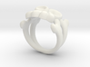 Skull & Crossbones Ring (L)  3d printed
