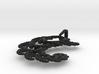 4.5cm Fractal lace, intricate spirals pendant  3d printed