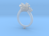 CD266- Flower Engagement Ring 3D Printed Wax . 3d printed