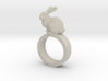 Bunny Ring 3d printed