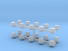 Z Scale Beacon Lights 20 Pack 3d printed