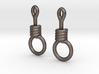 Noose Earrings 3d printed