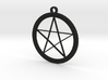 Pentagram Necklace 3d printed