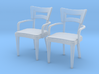 1:36 Dog Bone Chair, with arms 3d printed