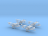 1/144 Sopwith Triplane (x4) 3d printed