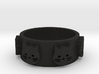 Ring of Seven Cats Ring Size 6.5 3d printed