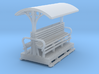 OO9 Small medium longitudinal seat open coach 3d printed
