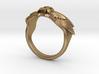 Winged Skull Ring 3d printed