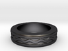 Men's Size 10 US Wave Ring 3d printed