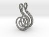 Spiral Earrings Textured 3d printed