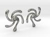 Spiral Galaxy Earrings 3d printed