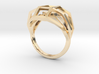 Geometry Caged Love Ring - My Heart Is In A Cage - 3d printed