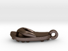 Soccer / football flipflop pendant 3d printed flipflop sandalPolished Bronze Steel