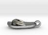 Soccer / football flipflop pendant 3d printed flipflop sandalPolished Silver