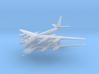 Tu-95 1:600 x2 3d printed
