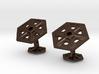 Snowflakes4Cufflinks 3d printed