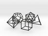 Plato Polyhedra radius 1 3d printed