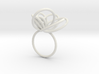 Flora Ring A (Size 6) 3d printed
