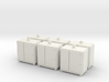 1:96 Close-in weapoon Ammo Locker - Set of 6 3d printed