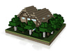 30x30 House02 (mix trees) (1mm series) 3d printed
