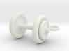 Tiny Dumbbell Pendant 3d printed