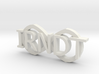 "IRNDT Logo Key Fob 3/4"" height 3d printed"