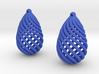 Teardrop Spiral Earrings 3d printed