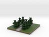 30x30 L path (pine trees) (1mm series) 3d printed