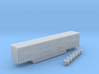 1:160 N Scale 3 Axle 53' Wilson Livestock Trailer 3d printed