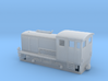Narrow gauge H0e model diesel shunter 3d printed Freelance narrow gauge H0e model diesel shunter