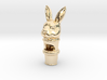Silver Rabbit Whistle 3d printed