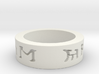I love you in elven ring 3d printed