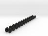 9 mm Gauge Wheels for OO9,HOn30,O9 - 9.5mm diam 12 3d printed