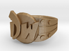 DW initials Ring size 6 3/4 US 3d printed