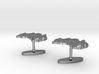 Australia Terrain Cufflink - Plate (2x) 3d printed
