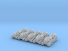 Caterpillar D4H - set of 10 - N scale 3d printed
