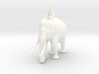 Indian Elephant with Rider 140mm 3d printed