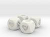 Hearts Fudge Dice SOLID (x4) Fate dF 3d printed