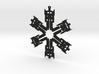 Snowflake Optimus Prime Ornament 3d printed