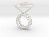 Ring_Diamant_NR3_Groesse_53 3d printed