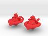 Sheep earrings 3d printed
