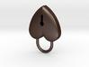 lock heart charm 3d printed