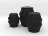 Medieval Barrels Colorful 3d printed
