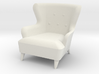 1:24 Moderne Wingback Barrel Chair 3d printed