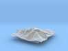 4'' Longs Peak Terrain Model, Colorado, USA 3d printed