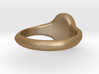 Women's Signet Ring with Traditional Monogram 3d printed
