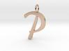 P Classic Script Initial Pendant 3d printed