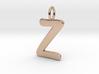 Z Classic Script Initial Pendant 3d printed
