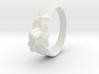 reclined girl ring 3d printed