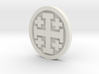 Crusader Cross Lapel 3d printed
